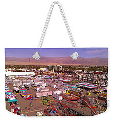 Weekender Tote Bag featuring the photograph Indio Fair Grounds by Chris Tarpening