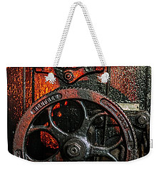 Industrial Wheels Weekender Tote Bag by Carlos Caetano