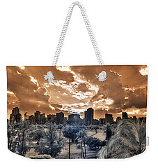 Infrared Sunset Weekender Tote Bag