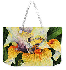 Weekender Tote Bag featuring the painting Inner Beauty by Barbara Jewell
