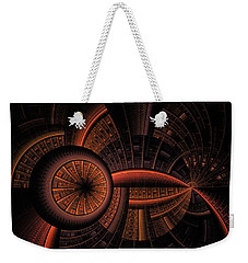 Weekender Tote Bag featuring the digital art Inner Core by GJ Blackman