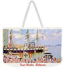 Inner Harbor Baltimore Maryland Weekender Tote Bag