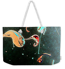 Weekender Tote Bag featuring the painting Inner Space by Jacqueline McReynolds