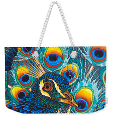 Insane Peacock Weekender Tote Bag