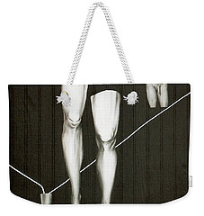 Weekender Tote Bag featuring the painting Insecurity by Fei A