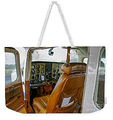 inside a small Cesna Weekender Tote Bag by Patricia Hofmeester