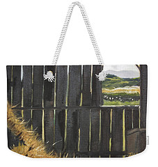 Barn -inside Looking Out - Summer Weekender Tote Bag
