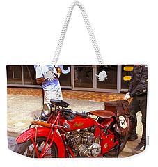 Inspecting Indian #70 Weekender Tote Bag