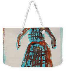 Weekender Tote Bag featuring the painting Inspired By Vuillard by Mary Carol Williams