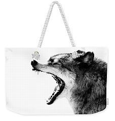 Intense Gray Wolf Portrait  Weekender Tote Bag