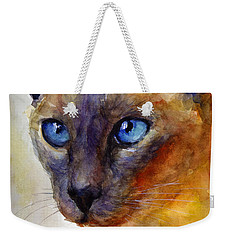 Intense Siamese Cat Painting Print 2 Weekender Tote Bag