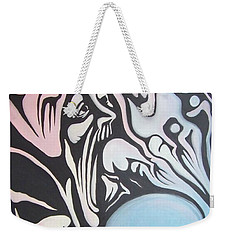 Weekender Tote Bag featuring the painting Intensity by Michael  TMAD Finney