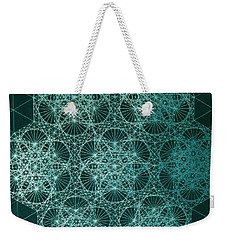 Weekender Tote Bag featuring the drawing Interference by Jason Padgett