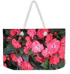 Weekender Tote Bag featuring the photograph Interior Decorations Butterfly Garden Flowers Romantic At Las Vegas by Navin Joshi