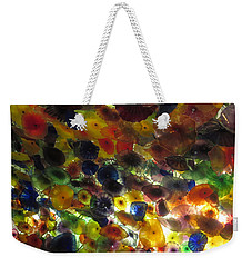 Weekender Tote Bag featuring the photograph Interior Roof Decorations Casino Hotel Resorts Las Vegas by Navin Joshi