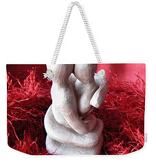 Weekender Tote Bag featuring the sculpture Intertwined by Barbara St Jean