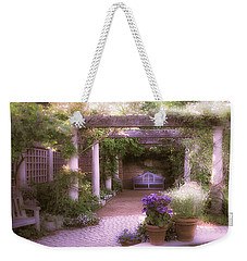 Weekender Tote Bag featuring the photograph Intimate English Garden by Julie Palencia