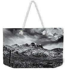 Weekender Tote Bag featuring the photograph Into Clouds by Mark Myhaver