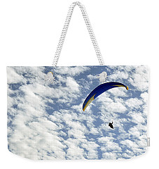 Weekender Tote Bag featuring the photograph Into The Blue Yonder by AJ  Schibig