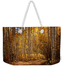 Weekender Tote Bag featuring the photograph Into The Color by Steven Reed