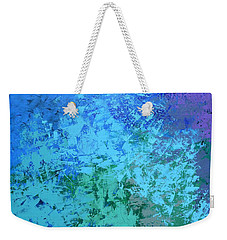 Weekender Tote Bag featuring the painting Into The Deep Blue Sea by Linda Bailey