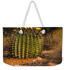Weekender Tote Bag featuring the photograph Into The Prickly Barrel by Mark Myhaver