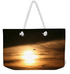 Weekender Tote Bag featuring the photograph Into The Sun by David S Reynolds