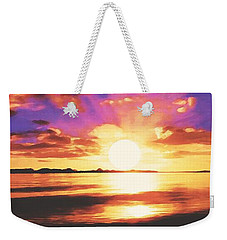 Weekender Tote Bag featuring the painting Into The Sunset by Sophia Schmierer