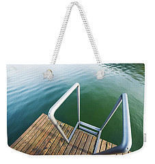 Weekender Tote Bag featuring the photograph Into The Water by Chevy Fleet