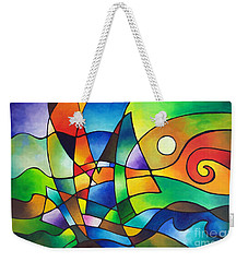 Into The Wind Weekender Tote Bag by Sally Trace