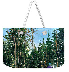 Into The Woods Weekender Tote Bag by Barbara Jewell