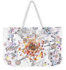 Intracellular Diversion Weekender Tote Bag by Regina Valluzzi