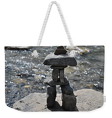 Inukshuk By The Water Weekender Tote Bag