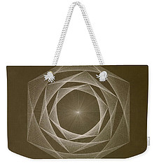 Inverted Energy Spiral Weekender Tote Bag