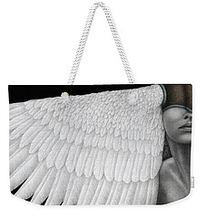 Weekender Tote Bag featuring the painting Inward Flight by Pat Erickson