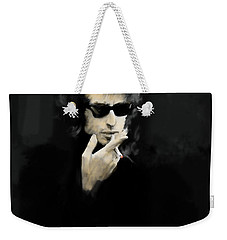 Inwardly Faded  Bob Dylan Weekender Tote Bag by Iconic Images Art Gallery David Pucciarelli