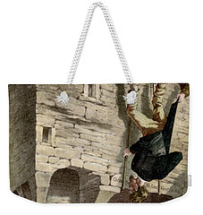 Weekender Tote Bag featuring the painting Ireland The Blarney Stone by Granger