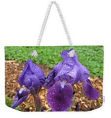 Iris After Rain Weekender Tote Bag