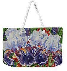 Iris Blooms Weekender Tote Bag