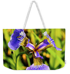 Weekender Tote Bag featuring the photograph Iris by Cathy Mahnke