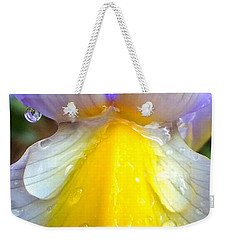 Iris Flower Petal Upclose Weekender Tote Bag