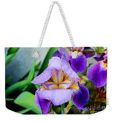 Iris From The Garden Weekender Tote Bag