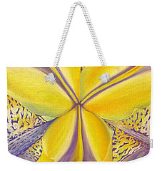 Weekender Tote Bag featuring the drawing Iris by Joshua Morton