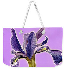 Iris On Lilac Weekender Tote Bag