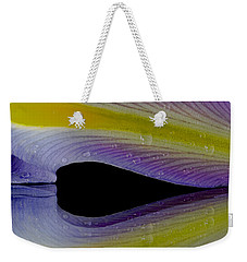 Iris Petal Reflected Weekender Tote Bag by Don Schwartz