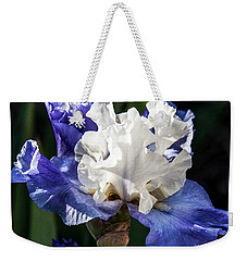Weekender Tote Bag featuring the photograph Stairway To Heaven Iris by Roselynne Broussard