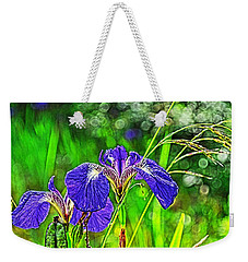 Weekender Tote Bag featuring the photograph Irises by Cathy Mahnke