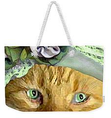 Irish Cat Weekender Tote Bag