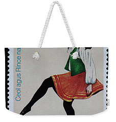 Irish Music And Dance Postage Stamp Print Weekender Tote Bag