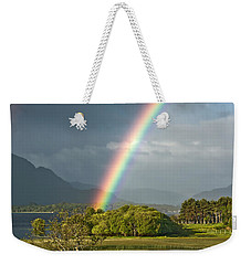Weekender Tote Bag featuring the photograph Irish Rainbow by Jane McIlroy